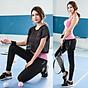 Set Bộ 3 đồ quần áo thun thể thao nữ áo ngoài zen năng động ( Đồ Tập Gym, Yoga, Aerobic ) mã 8808 6