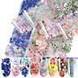 Bộ 10 tấm decal họa tiết hoa lá phpng cách Nhật Bản trang trí móng tay siêu xinh, siêu tiện ích thumbnail
