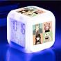 Đồng hồ báo thức để bàn in hình SPY X FAMILY GIA ĐÌNH ĐIỆP VIÊN anime chibi đèn LED đổi màu thumbnail