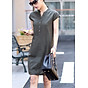 Đầm suông bổ trụ phối túi phong cách Hàn Quốc - DS33 thumbnail