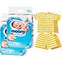 Bộ 2 tã dán cao cấp Moony Newborn 90 [Tặng bộ quần áo Nous 9-12m] thumbnail