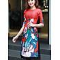 Sét áo dài cách tân họa tiết cô tấm chân váy ren - AD7257 thumbnail