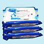 Combo 3 Gói Khăn ướt kháng khuẩn có cồn cao cấp iHomeda ( 80 Miếng Gói) - Combo 3 of iHomeda premium anti-bacteria alcohol wipes ( 80 sheets per packpage) 1
