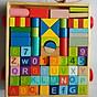 Bộ xếp hình xây dựng 70 chi tiết MK_ đồ chơi gỗ thumbnail