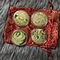 Combo 4 xu tứ linh Rồng Phụng Lân Cá Chép tặng túi gấm, dùng để trang trí, làm dây chuyền đeo hoặc treo trên xe ôtô - SP001821 thumbnail