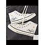Giày Thể Thao Sneaker Nữ , Cao Cổ, Nhẹ Thoáng Khí, Thích Hợp Đi Chơi, Đi Hoc, Đi Làm, Đế Cao Su Đúc, Chống Trơn Trượt, Hạn Chế Mòn Đế, Miếng Lót Giày Cấu Trúc Tổ Ong Tạo Cảm Giác Êm S322 1