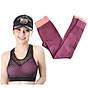 Bộ thể thao tập yoga, tập gym nữ SR03 YG cao cấp áo hồng phối lưới thumbnail