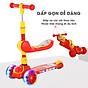 Xe trượt scooter 3 bánh cao cấp dành cho bé, phát nhạc, bánh xe phát sáng vĩnh cửu, rèn luyện vận động, tăng chiều cao cho bé, chịu lực lên tới 90kg 3