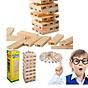 Đồ chơi trẻ em, đồ chơi thông minh, bộ đồ chơi rút gỗ 54 thanh wiss toy gỗ tự nhiên kèm xúc xắc, không độc hại phù hợp với cả trẻ em và người lớn Tặng Kèm Móc Khóa 4Tech. 1