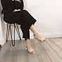 Sandal quai ngang gót mika bọc viền pha lê cực sang-sandal nữ, sandal nữ cao gót, sandal cao gót, sandal-gót mika bọc viền pha lê, 7cm 6