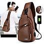 Túi đeo chéo nam da xịn cao cấp có cổng sạc điện thoại cắm tai nghe chống nước thumbnail