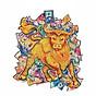 Bộ xếp hình gỗ đồ chơi puzzle ghép hình Con vật độc đáo- Con Trâu- TGP007 thumbnail