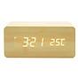 Đồng hồ để bàn giả gỗ LED CAO CẤP - Sạc không dây - Nhiệt kế - Báo thức - Cảm ứng âm thanh (giao màu ngẫu nhiên) thumbnail