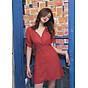 Đầm bi đỏ tay rút thumbnail