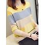 Áo len nữ dệt kim phối màu thời trang ALN07 thumbnail