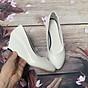 Giày nữ bít mũi đế xuồng cao 5cm kiểu trơn da bóng mềm nhẹ C14n có ảnh thật 2