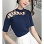 Áo len cộc tay đan dây vai mẫu mới 2019 thumbnail