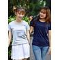 Combo 2 áo thun nữ thoát nhiệt Nhật Bản GOKING, form ôm tôn dáng, 100% cotton thoáng mát, thấm hút mồ hôi thumbnail