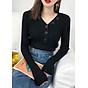 Áo len gân cổ tim nhiều màu Haint Boutique 59 thumbnail