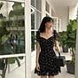Đầm Hoa Nhí Tay Phồng Xoè Nhẹ Đuôi Cá Mặc Được 2 Kiểu thumbnail