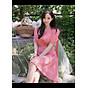 Đầm caro cổ V nút đỏ thumbnail