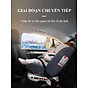 Ghế ô tô 2 chiều CHUẨN ISO 9001, điều chỉnh 4 tư thế từ nằm tới ngồi và có thể điều chỉnh độ cao 7 cấp cho bé từ 0-12 tuổi (xám) 7