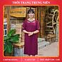 Đầm suông trung niên iDiva D10-35 chất liệu lụa cao cấp mềm, rũ bigsize phù hợp u50 dự tiệc & dạo phố thumbnail