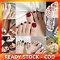 Set 22 nhãn dán trang trí móng chân họa tiết dễ thương thumbnail