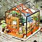 Đồ chơi lắp ráp gỗ 3D Mô hình DIY Doll House Kit Cathy is Flower House kèm đèn LED thumbnail
