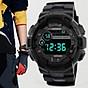 Đồng hồ điện tử thời trang nam nữ HONHX Hn1. mặt tròn dây silicon full chức năng, có báo thức và đèn ban đêm thumbnail