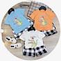 Bộ cộc tay cotton hàn Cao Cấp Cho Bé (6-18kg) thumbnail