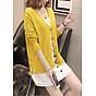 Áo cardigan len nữ 2 túi trước thời trang phong cách Hàn Quốc DV15 6