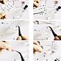 Bộ 10 tấm decal dán móng họa tiết bông hoa, cánh bướm - sticker trang trí móng nghệ thuật Nail art sang trọng H10 5