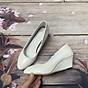 Giày nữ bít mũi đế xuồng cao 5cm kiểu trơn da bóng mềm nhẹ C14n có ảnh thật 3