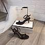 Sandal quai ngang gót mika bọc viền pha lê cực sang-sandal nữ, sandal nữ cao gót, sandal cao gót, sandal-gót mika bọc viền pha lê, 7cm 4