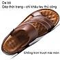 Giày Sandal phong cách thời trang Nhật Bản đế mềm chất liệu da bò thật phù hợp với các mùa trong năm mã 12129 4