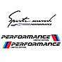 Combo 2 tem dán cửa + 1 tem sport mind dán capo xe ô tô Performance 01 thumbnail