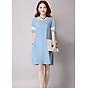 Đầm suông công sở hai túi chéo LAHstore, chất vải thô đũi mềm mại thích hợp mùa hè, thời trang trẻ thumbnail