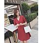 Đầm bi đỏ tay rút 5