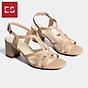 Gia y sandal phô i dây thời trang Erosska mu i vuông gót cao 5cm CS002 thumbnail