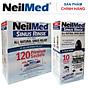 Combo Adult SinusCare Bình Rửa Vệ Sinh Mũi Xoang Người Lớn NeilMed Sinus Rinse - SX Mỹ, Giải Pháp Tối Ưu hỗ trợ điều trị Viêm Xoang Cấp & Mãn. (Bình 10 gói và Hộp 120 gói muối rửa bổ sung) thumbnail