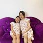 Bộ mặc nhà vải tole lanh tay cánh tiên thoáng mát cho mẹ và bé gái 1
