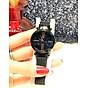 Đồng hồ nữ dây kim loại lưới khóa nam châm mặt tròn đen cá tính ĐHĐ6003 1