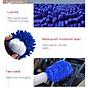 Bộ 2 găng tay lau rửa xe siêu mềm thấm hút tốt chuyên dụng cho ô tô xe máy (Màu ngẫu nhiên) 5