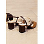 Giày cao gót 5cm dây chéo phối màu thời trang 3
