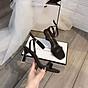 Sandal quai ngang gót mika bọc viền pha lê cực sang-sandal nữ, sandal nữ cao gót, sandal cao gót, sandal-gót mika bọc viền pha lê, 7cm 3