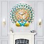 Đồng hồ trang trí chim công CY3 Đồng hồ treo tường Đồng hồ khổng tước thumbnail