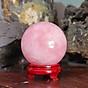 Quả cầu Thạch Anh Hồng Thiên Nhiên - DTB004 thumbnail