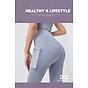 Quần thể thao nữ quần legging co giãn nhanh khô, túi hai bên phối lưới, quần yoga chạy bộ mã MTCK9016 6