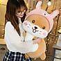 Gối ôm, Gấu bông chuột hamster mũ hồng siêu cute, Thú nhồi bông chuột hamster mũ hồng siêu dễ thương, Gấu bông sang trọng, Đồ chơi thú bông size 50cm thumbnail